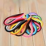 900Bandas tiras de papel Quilling Kits (ancho 3mm/6mm/7mm/10mm, longitud 39cm) 5 mm Black/Blue/Brown/Green/Orange/Purple/Red/Yellow