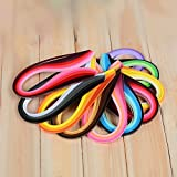 900 Streifen Papier Quilling Streifen Kits (Breite 3 mm/5/7 mm/10 mm, Länge 39 cm) 5 mm Black/Blue/Brown/Green/Orange/Purple/Red/Yellow