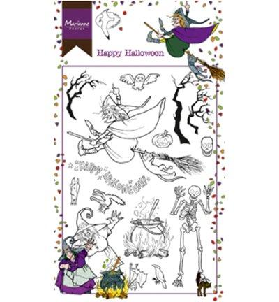 Marianne Design Löschen Sie Briefmarken Hettys glückliches Halloween, Silikon, Transparent, 18.5 x 10.5 x 0.5 cm -