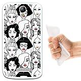 WoowCase Doogee X6 - X6 Pro Hülle, Handyhülle Silikon für [ Doogee X6 - X6 Pro ] Rote Lippenstift Mädchen Handytasche Handy Cover Case Schutzhülle Flexible TPU - Transparent
