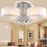 ALFRED LED Moderne Acryl-Kristall-Kronleuchter 3 leuchtet (Chrom), Modern Leuchte Decke Für, Diele, Schlafzimmer, Gästezimmer