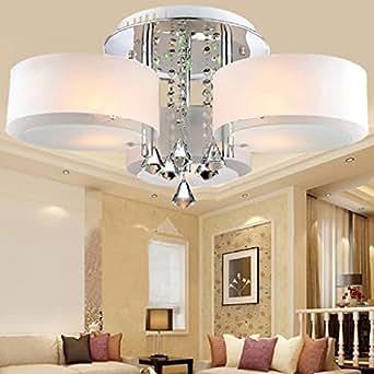 alfred led moderne acryl kristall kronleuchter 3 leuchtet chrom modern leuchte decke f r. Black Bedroom Furniture Sets. Home Design Ideas