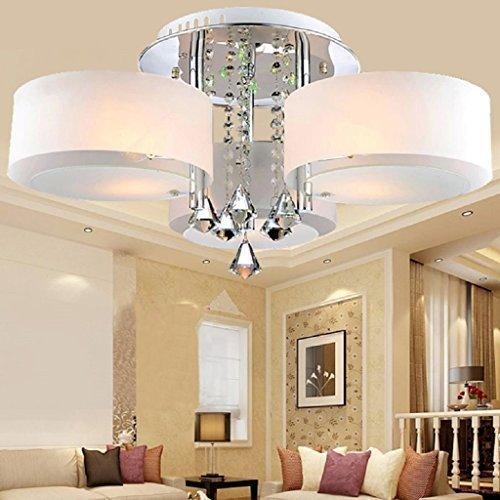 ALFRED LED moderno acrilico lampadario di cristallo 3 luci (Chrome), soffitto Modern Light Fixture Per, disimpegno, camera matrimoniale, Soggiorno