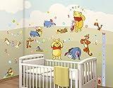 Walltastic Disney, Winnie Pooh, Kit zur Raumdekoration, Vinyl, bunt, 37.5 x 8 x 18 cm