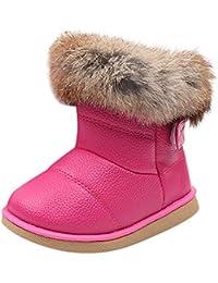 HUHU833 Kinder Mode Mädchen Baby Stiefel, Warme Watte Gepolsterten Schuhe Kaninchen-Haar Dicker Schnee Stiefel Warm Schuhe