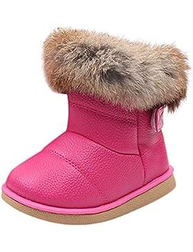 HUHU833 Kinder Mode Mädchen Baby Stiefel, Warme Watte Gepolsterten Schuhe Kaninchen-Haar Dicker Schnee Stiefel...