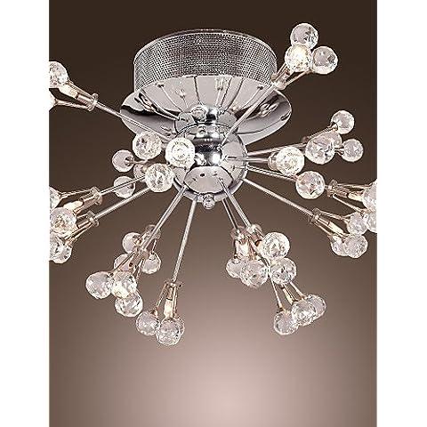 Max 10W moderno/contemporaneo cristallo / lampadina inclusa cromo metallo Flush Mount soggiorno / camera da letto / ingresso / corridoio ,