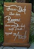 Metall Tafel Regen mit Welle Gartenschild Dekoration Schild