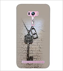 PrintDhaba Lock and Key D-2372 Back Case Cover for ASUS ZENFONE SELFIE ZD551KL ULTRA (Multi-Coloured)