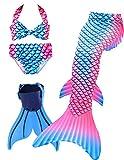 ShePretty Traje de Baño de La Cola Sirena de Las Muchachas Bikini Set para Nadar Traje de Sirena,Dh7272,120