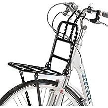 Portaequipajes delantero para bicicleta – Hasta 15 kg, 30 x 30 cm
