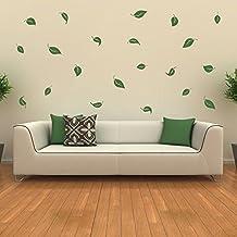 Wandtattoo Blätter Laub Wandaufkleber Wanddekoration Blatt Pflanzen  Wohnzimmer Wand Deko Tattoo Set 2 20 Blätter