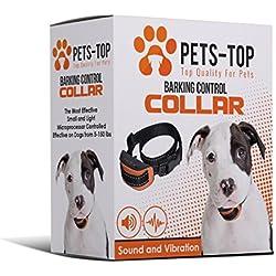[NUEVO] Collar Anti Ladridos PETS-TOP Perro & Cachorro – SONIDO + VIBRACIÓN Únicamente – De 1 a 35 kg – Todas las Razas – 0% Descarga Eléctrica – 100% Respeto del animal – Educación canina suave