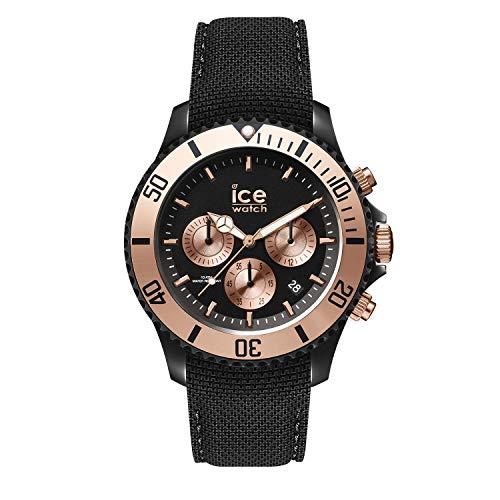 Ice-Watch - Ice Urban Black Rose-Gold - Schwarze Herrenuhr mit Silikonarmband - Chrono - 016307 (Large)