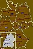 Image de Mapa Regional Germany Southwest