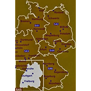 Mapa Regional Germany Southwest