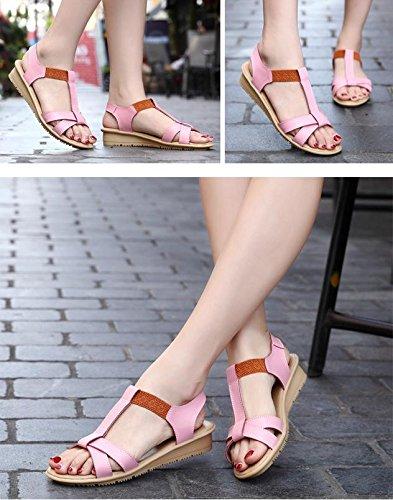Mzg Simple Sandales De Mode D'été Femme Chaussures De Bonbons En Caoutchouc Caoutchouc Confort Sandales 4