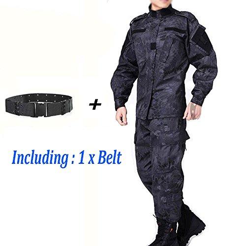 Worldshopping4U ATAIRSOFT Men Tactical BDU Combat Uniform Jacket Shirt & Pants Suit for Army Military Airsoft Paintball Hunting Shooting War Game