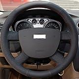 YF XuJi negro piel volante para Ford Focus 2 2005-2012