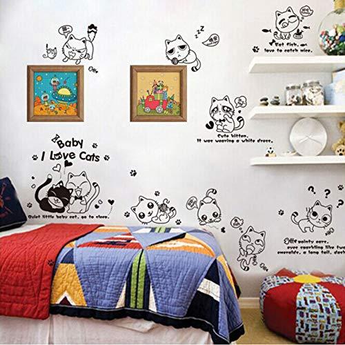Cczxfcc Diy Wohnkultur Niedlichen Gesicht Katze Wandaufkleber Für Kinderzimmer Baby Home Interior Dekoration S Infantiles (Diy Katze Halloween Für Gesicht)