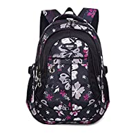 Fancybox Cool Backpack for Kids Girls Sports Backpack Flowers Pattern Travel Backpacks Students Book Bag