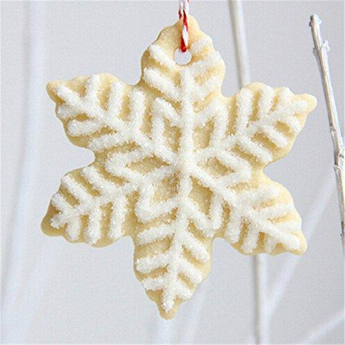 Keksausstecher Schneeflocke Eiskristall 5-tlg Weißblech - 2