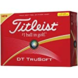 Titleist DT Solo Tru Soft Golf Ball Yellow by Titleist