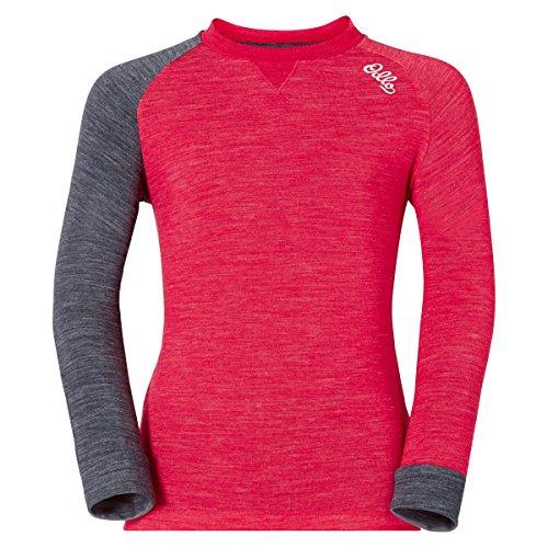 Odlo Shirt L/S Revolution TW Warm Kids Rose red Melange | 07613273795943