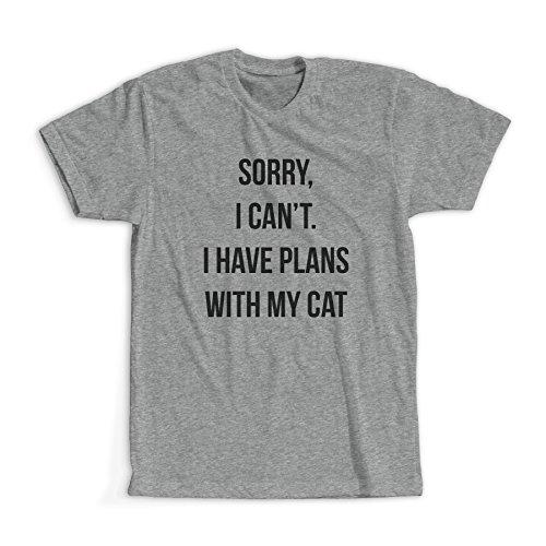 Sorry I Can't I Have Plans With My Cat Maglietta / T-Shirt / Più colori e dimensioni / Spedizione Veloce