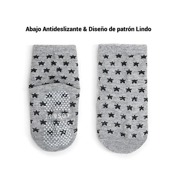 Wonyered 12 pares Calcetines de Algodón Antideslizantes para Bebés Chicos y Chicas 1-36 Meses para4 estaciones
