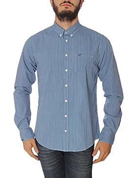 Camicia Uomo Indigo Stripe Check B/D Sun68 SH016 MainApps