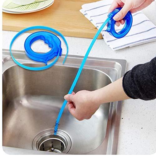 1pc Aseo limpieza Hook Moda Inicio Cepillos para la limpieza de desagüe del fregadero del limpiador de ba?o de hidromasaje desatasca el fregadero de eliminación de pelo de la herramienta Suppies