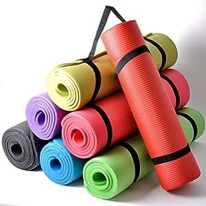 Thick Cushioned Pilates and Yoga Mat 182cm x 60cm x 16mm (Black)