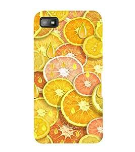 PrintVisa Orange And Lemon Pattern 3D Hard Polycarbonate Designer Back Case Cover for Blackberry Z10