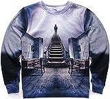 Pizoff Unisex Hip Hop Digital Print Sweatshirts mit Kosmos Universum 3D Muster Y1628-21-S