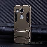 Cocomii Iron Man Armor LG Nexus 5X Hülle [Strapazierfähig] Erstklassig Taktisch Griff Ständer Stoßfest Gehäuse [Militärisch Verteidiger] Ganzkörper Solide Case Schutzhülle for LG Nexus 5X (I.Gold)