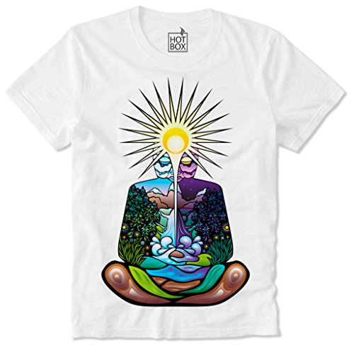 Hotbox T Shirt Yoga Meditation Chakra 4 Elements Indien India L - Indien-elemente