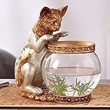 Aquarium Aquarium Dekoration Vase Kind Spaß Geschenk Goldfisch Tank Studie Schreibtisch Couchtisch Tier Kreative Dekoration (Farbe : B)