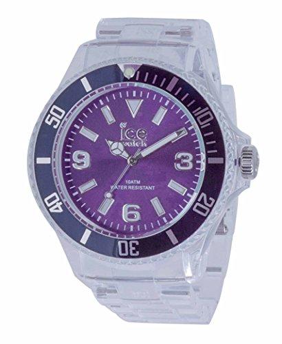 ICE-Watch Pure Men's Quartz Watch with Purple Dial Analogue Display and Transparent Plastic Bracelet PU.PE.B.P.12