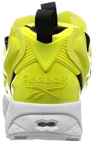 21b505ab200be ... Basket Reebok Instapump Fury Overbranded en vernis vegane jaune Jaune  ...