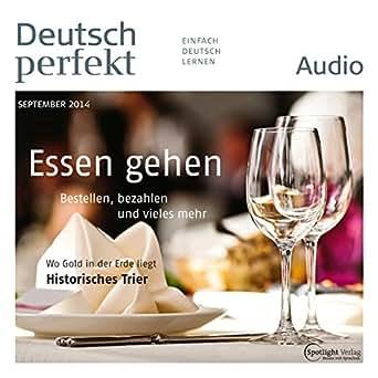deutsch perfekt audio essen gehen 9 2014 h rbuch download div spotlight. Black Bedroom Furniture Sets. Home Design Ideas