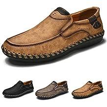 Mocasines para Hombre Zapatos de conducción Slip-On Casuales del Zapatos de Cuero del Zapato