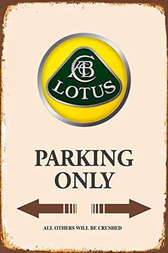 lotus Parking only park schild tin sign schild aus blech garage
