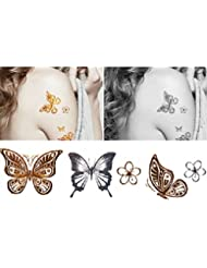 4 feuilles de tatouages temporaires-Tox Body Art Tattoo Sticker-Papillon