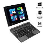 2-in-1 Tablet PC Laptop 10.1inch IPS Touch Screen 1280X800 Resolution 2GB RAM/32GB ROM Windows 10 - AWOW SimpleBook Intel Atom X5-Z8350 Quad Core CPU and Front 2.0MP/Rear 5.0MP Camera include Keyboard
