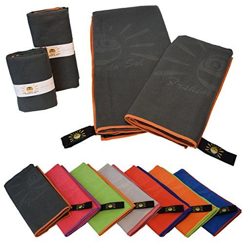 Fashion do Sol Mikrofaser Handtuch schnelltrocknend | saugfähig, leicht, Antibakteriell | Bade-Reise-Fitness-Yoga-Sauna-Gym-Outdoor-Sport-Handtücher | 140x70-100x50cm