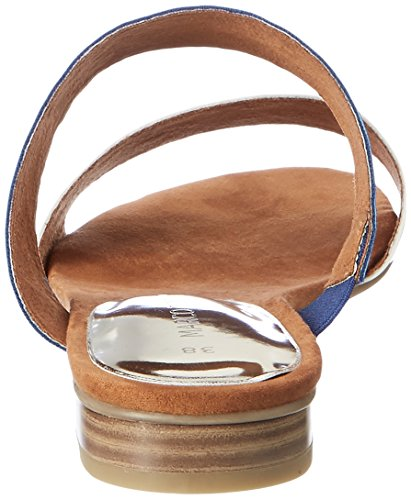 93e4c635e540 856 Marco Tozzi Damen 27102 Offene Sandalen mit Keilabsatz Blau (Royal A.  Comb.
