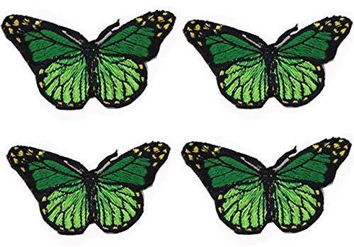 4 Stück Schmetterlinge Blume Applique Kleidung Stickerei Patch Stoff Aufkleber Eisen auf Nähen auf Patch Handwerk Nähen Reparatur bestickt