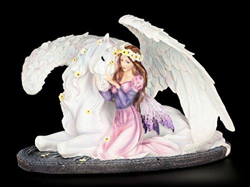 Elfen Figur - Prinzessin Amalia mit Pegasus - Elfenfigur Elfe Fee Fairy Deko