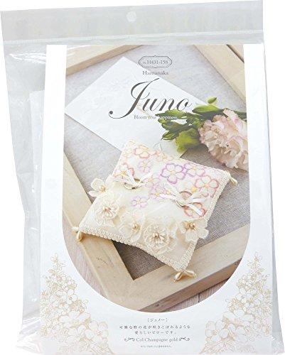 Kit di nozze Hamanaka Juno (Juneau) giardino fiorito del cuscino anello H4.3.1.-1.5.8.